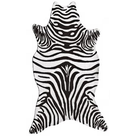 Black Zebra Indoor Outdoor Rug