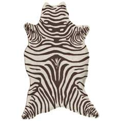 Brown Zebra Indoor Outdoor Rug