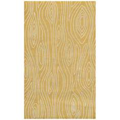 Knots Yellow Indoor Outdoor Rug