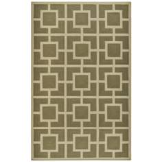 Broidery Green Indoor Outdoor Rug