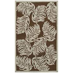 Date Palm Brown Indoor Outdoor Rug