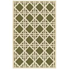 Trellis Green Indoor Outdoor Rug
