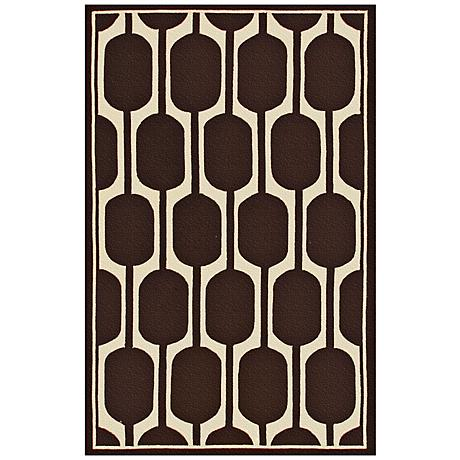Perpetua Brown Indoor Outdoor Rug