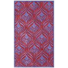 Grasset Purple Red Handmade Rug