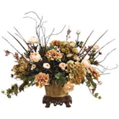 Hydrangea Rose and Dahlia Floral Arrangement