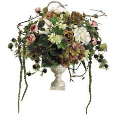 Hydrangea Rose and Raspberry Floral Arrangement