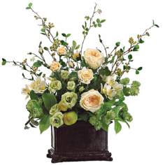 Roses Hops and Alstroemeria Floral Arrangement