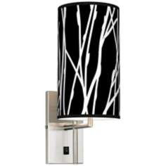 Stacy Garcia Twiggy Black Banner Giclee Plug-In Sconce