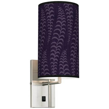 Stacy Garcia Fancy Fern Rich Plum Banner Giclee Plug-In Sconce