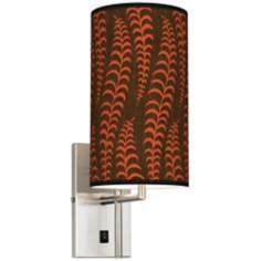 Stacy Garcia Fancy Fern Coral Banner Giclee Plug-In Sconce
