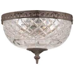 "Crystorama Majestic English Bronze 8"" Wide Ceiling Light"