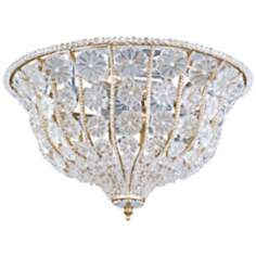 "Crystorama Signature Burnished Gold 16"" Wide Ceiling Light"