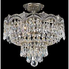 "Crystorama Majestic Brass 14"" Wide Ceiling Light"
