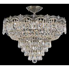 "Crystorama Majestic Brass 21"" Wide Semiflush Ceiling Light"