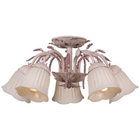 "Crystorama Primrose Blush 22"" Wide Semiflush Ceiling Light"