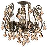 Crystorama Regis Bronze Amber Ceiling Light