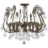 "Crystorama Regis Bronze 24"" Wide  Ceiling Light"