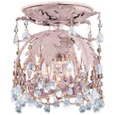 "Crystorama Melrose Blush 6"" Wide Semiflush Ceiling Light"