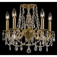 Crystorama Regis Aged Brass Ceiling Light