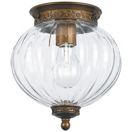 "Crystorama Camden Brass 8"" High Ceiling Light"