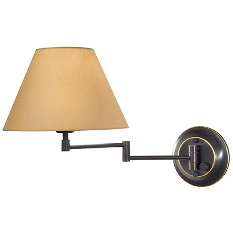Holtkoetter Oil Rubbed Bronze Brass Kupfer Swing Arm Lamp