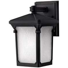 "Hinkley Stratford Black 10 3/4"" High Outdoor Wall Light"