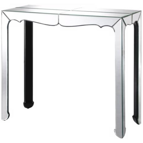 Clear Mirror Console Table