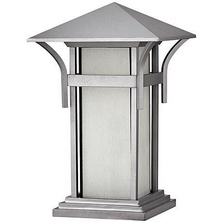 "Harbor Collection Titanium 17"" High Outdoor Pier Mount Light"