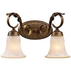 "Briarcliff Collection Weathered Umber 17"" Wide Bath Light"