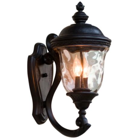 "Carriage House 20"" High Upbridge Arm Outdoor Wall Light"