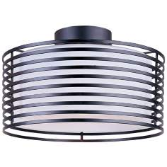 "Andretti Collection Black 16 1/2"" Wide Ceiling Light Fixture"