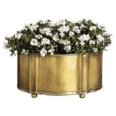 Antique Brass Finish Planter