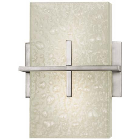 "Stratus Collection Bubble Glass 11"" High Wall Sconce"