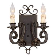 Savoy House Bourges Forged Black 2-Light Wall Sconce