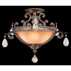 "Savoy House Chastain 17 1/2"" High Semiflush Ceiling Light"