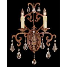 Savoy House Forged Iron 2-Light Wall Sconce