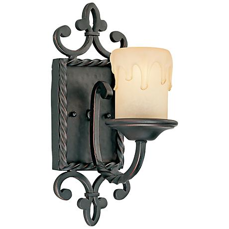 "Savoy House San Gallo Slate 14"" High Wall Sconce"