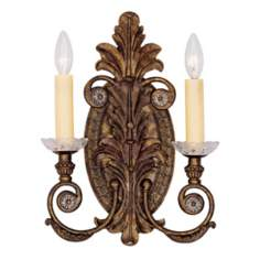 "Savoy House Empire 16"" High 2-Light Wall Sconce"