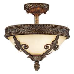 "Savoy House Empire 13 1/4"" Wide Semiflush Ceiling Light"