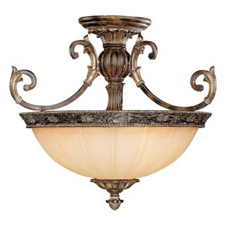 "Savoy House Grenada 24"" Wide Semiflush Ceiling Light"