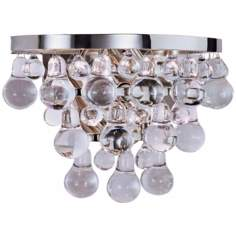 Robert Abbey Bling Collection Nickel Finish Wall Sconce