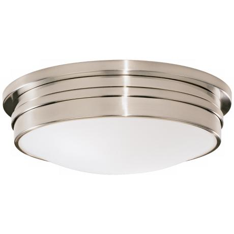 "Roderick Collection Silver 17"" Wide Flushmount Ceiling Light"