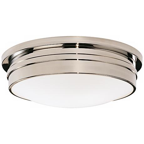 "Roderick Collection Nickel 17"" Wide Flushmount Ceiling Light"