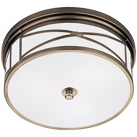"Robert Abbey Dark Nickel 15"" Wide Flushmount Ceiling Light"