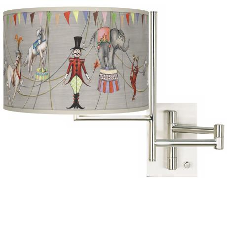 Circus Time Plug In Swing Arm Wall Light