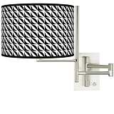 Tempo Waves Plug-in Swing Arm Wall Light
