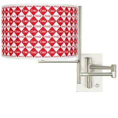 Coca-Cola® Diamond Tempo Plug-In Swing Arm Wall Lamp