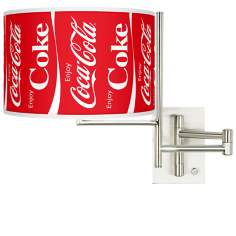 Enjoy Coca-Cola® Plug-In Swing Arm Wall Lamp