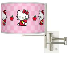 Hello Kitty Apples Tempo Plug-In Swing Arm Wall Light