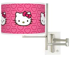 Hello Kitty Hearts Tempo Plug-In Swing Arm Wall Light